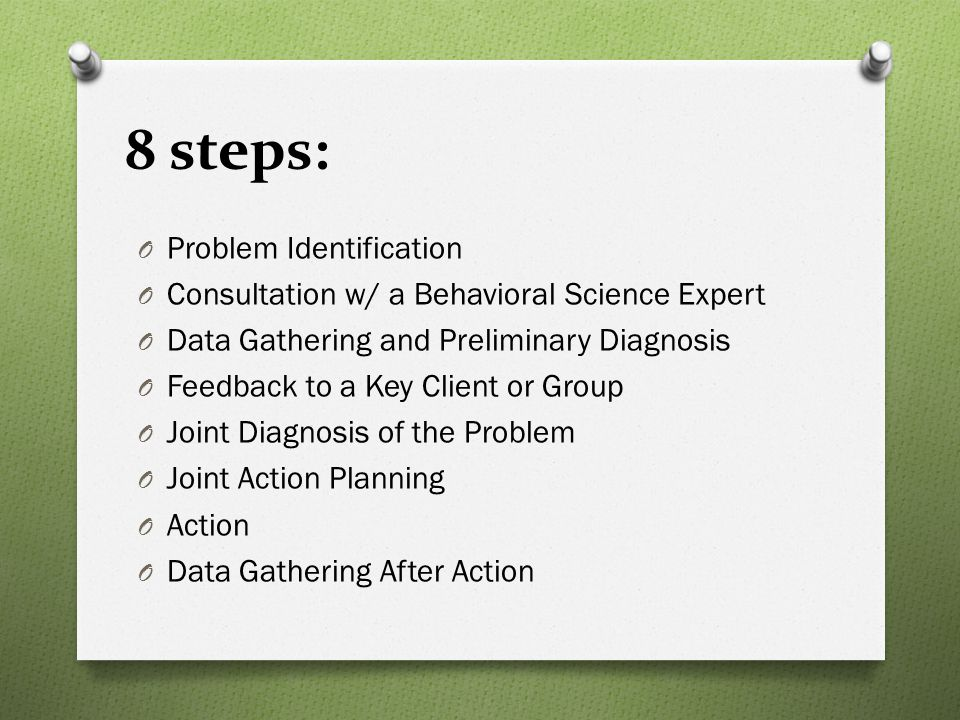 8 steps: Problem Identification