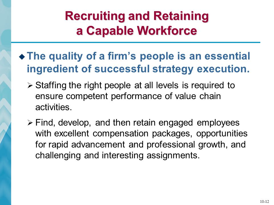 Recruiting and Retaining a Capable Workforce