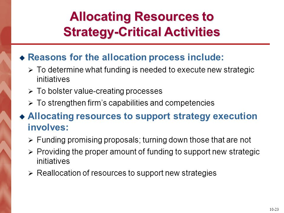 Allocating Resources to Strategy-Critical Activities