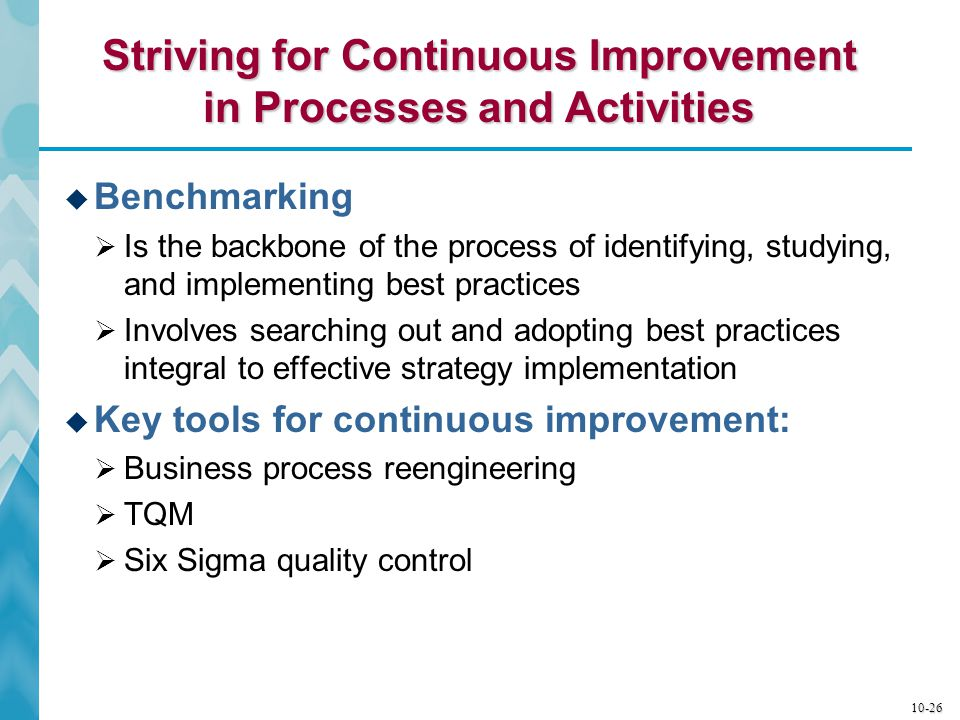Striving for Continuous Improvement in Processes and Activities