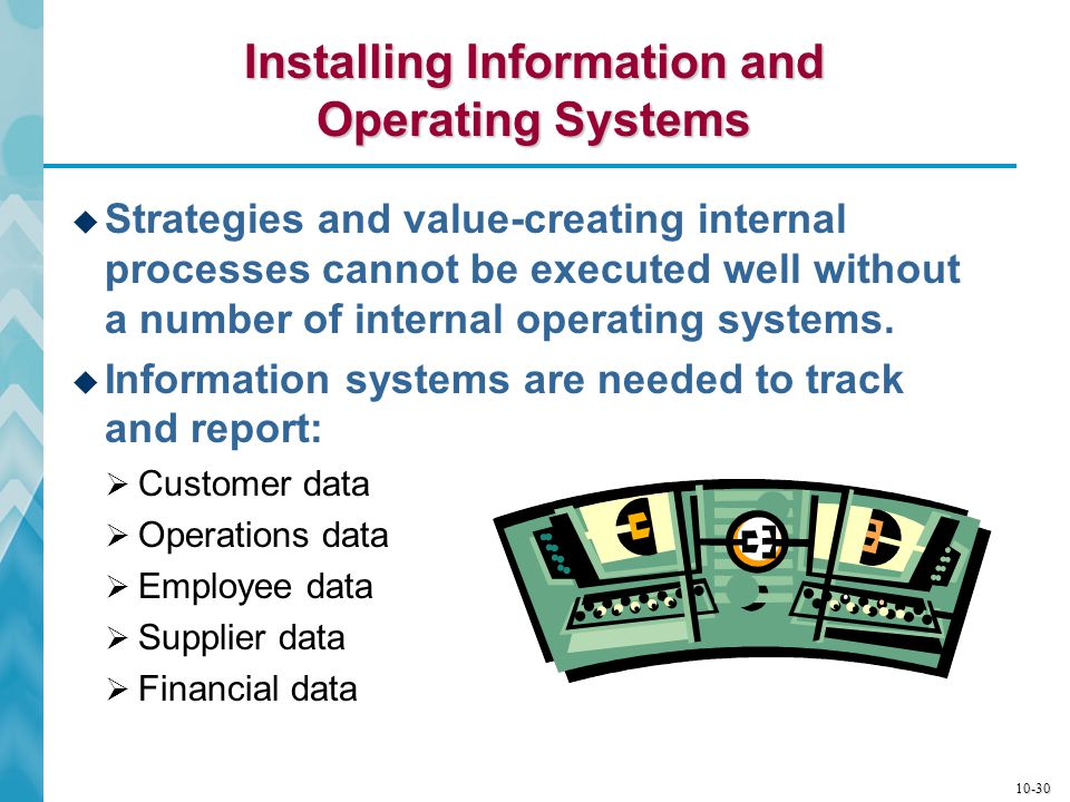 Installing Information and Operating Systems