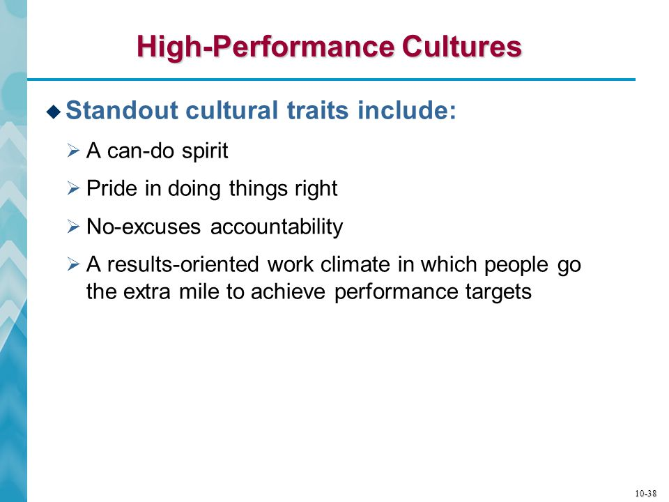 High-Performance Cultures
