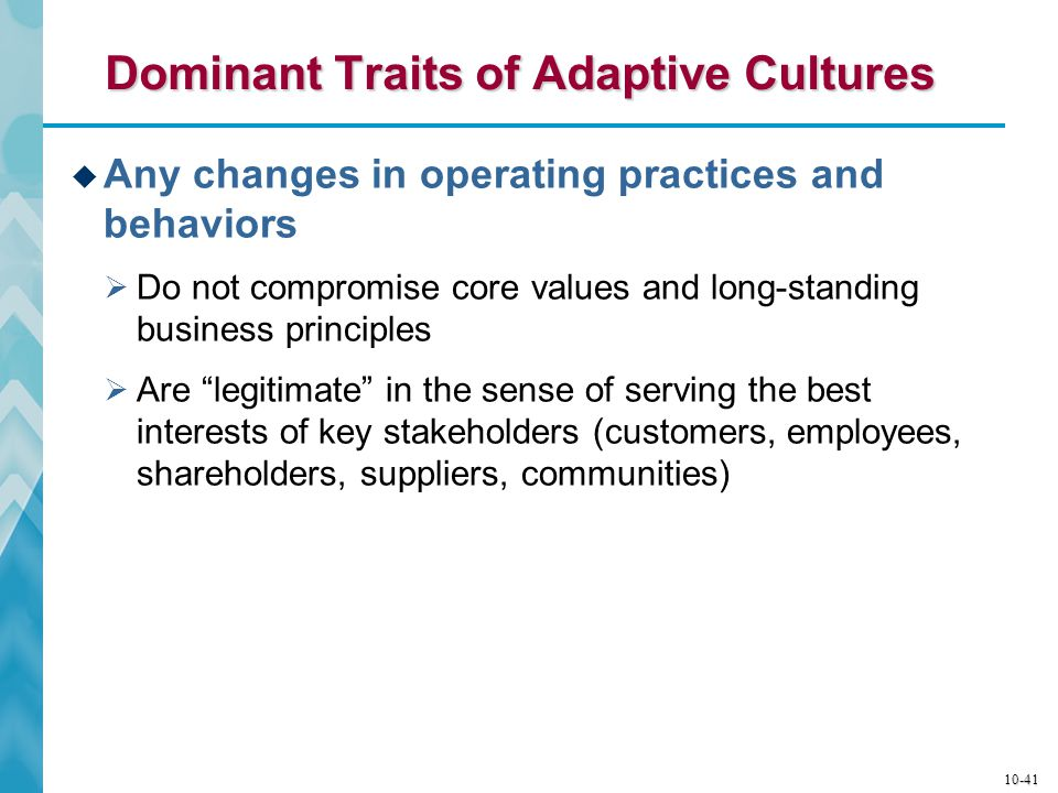 Dominant Traits of Adaptive Cultures