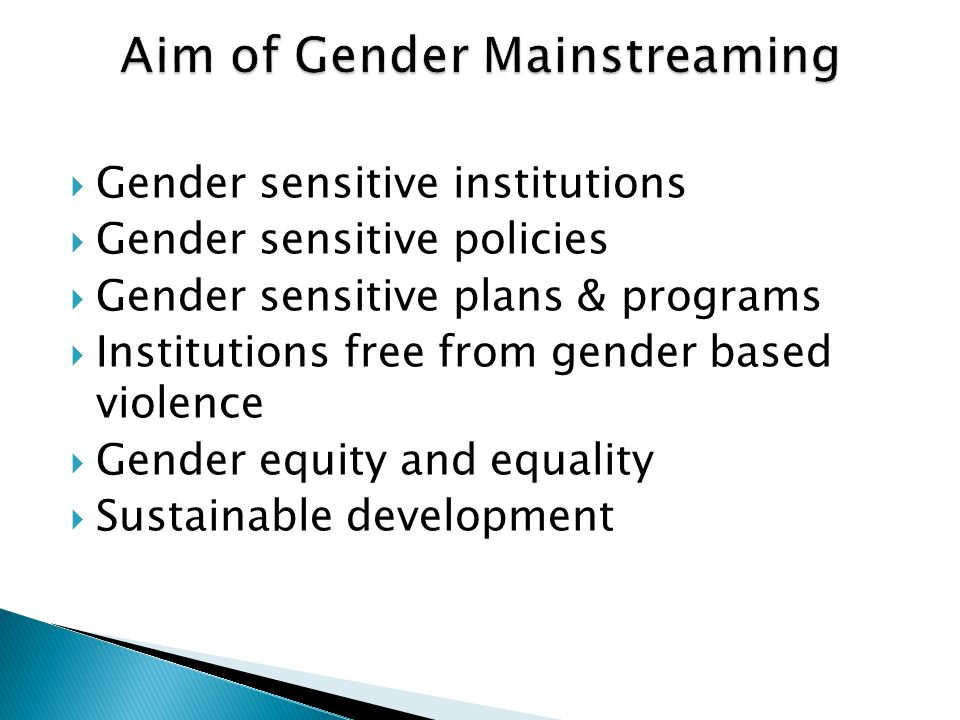 Aim of Gender Mainstreaming