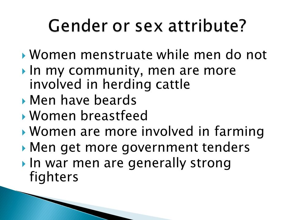 Gender or sex attribute