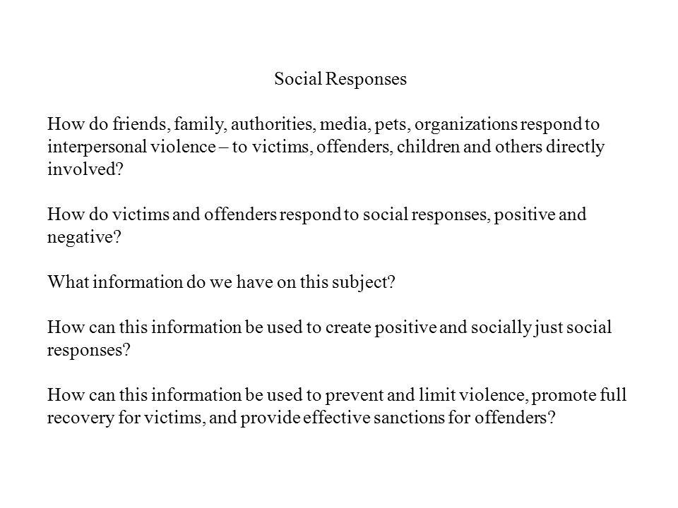 Social Responses