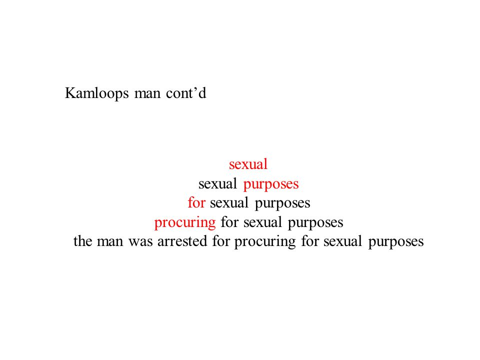 procuring for sexual purposes