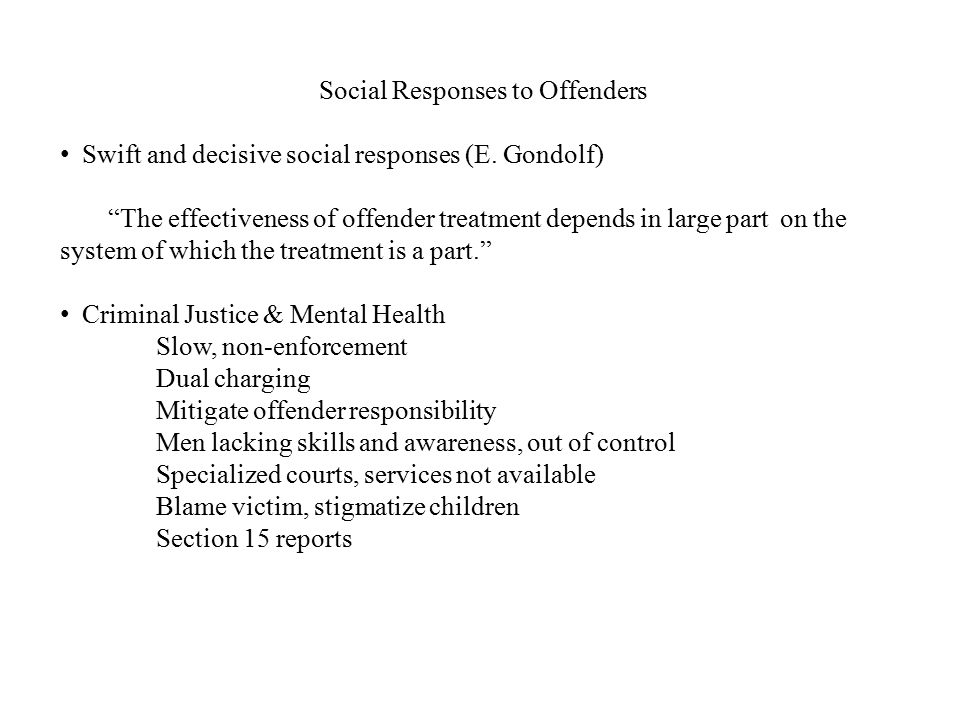 Social Responses to Offenders