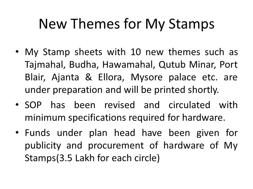 New Themes for My Stamps