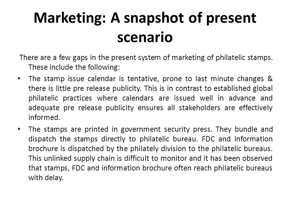 Marketing: A snapshot of present scenario