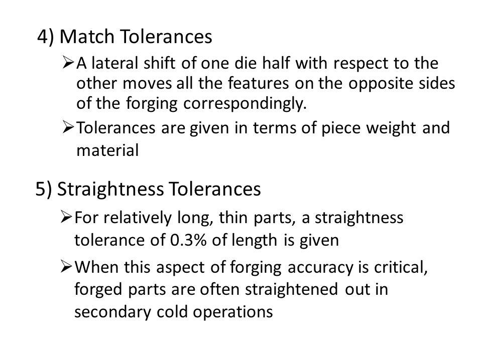 5) Straightness Tolerances