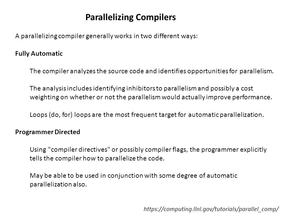 Parallelizing Compilers