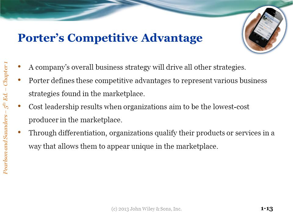 Porter's Competitive Advantage