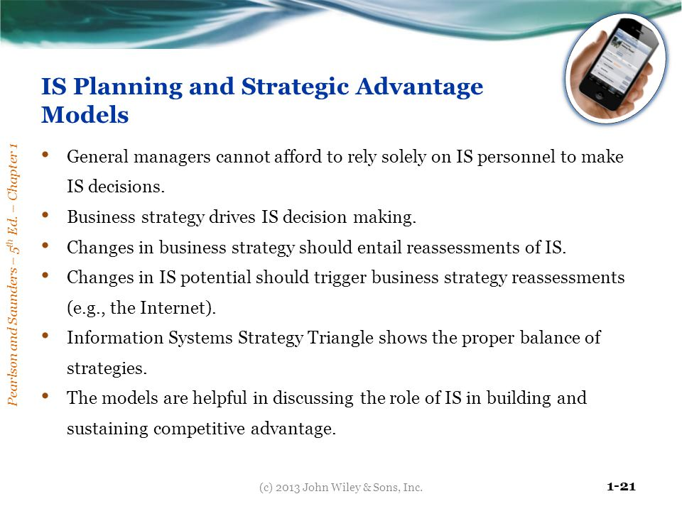 IS Planning and Strategic Advantage Models