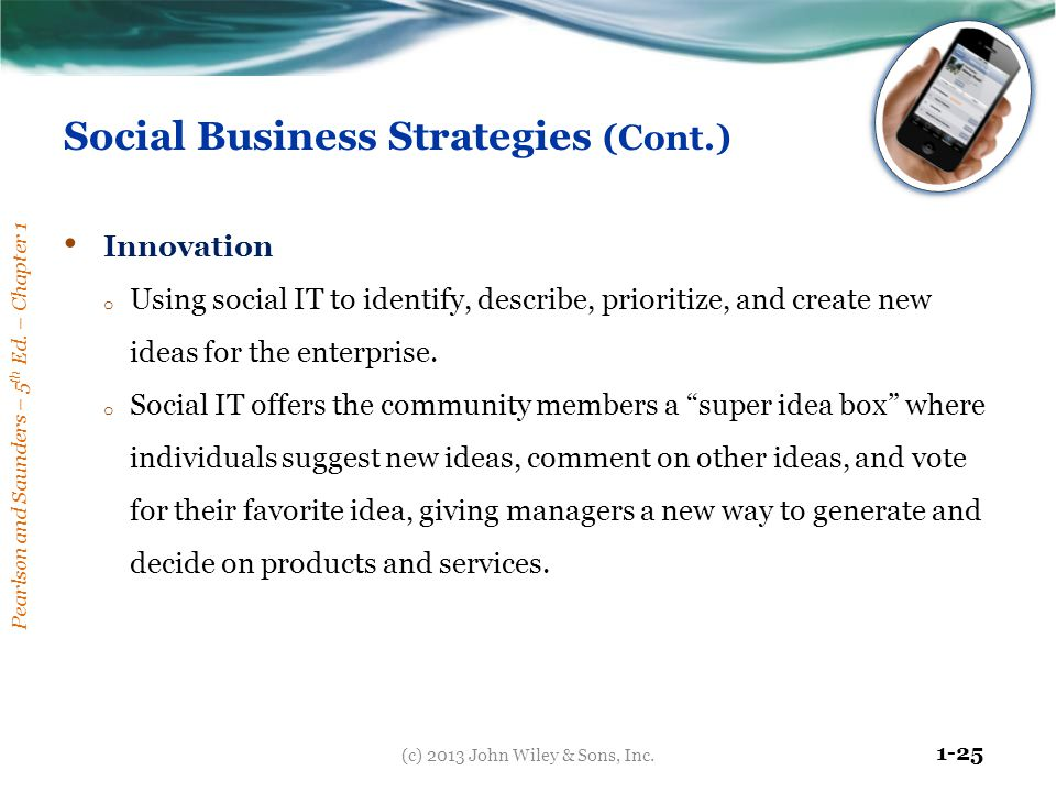 Social Business Strategies (Cont.)