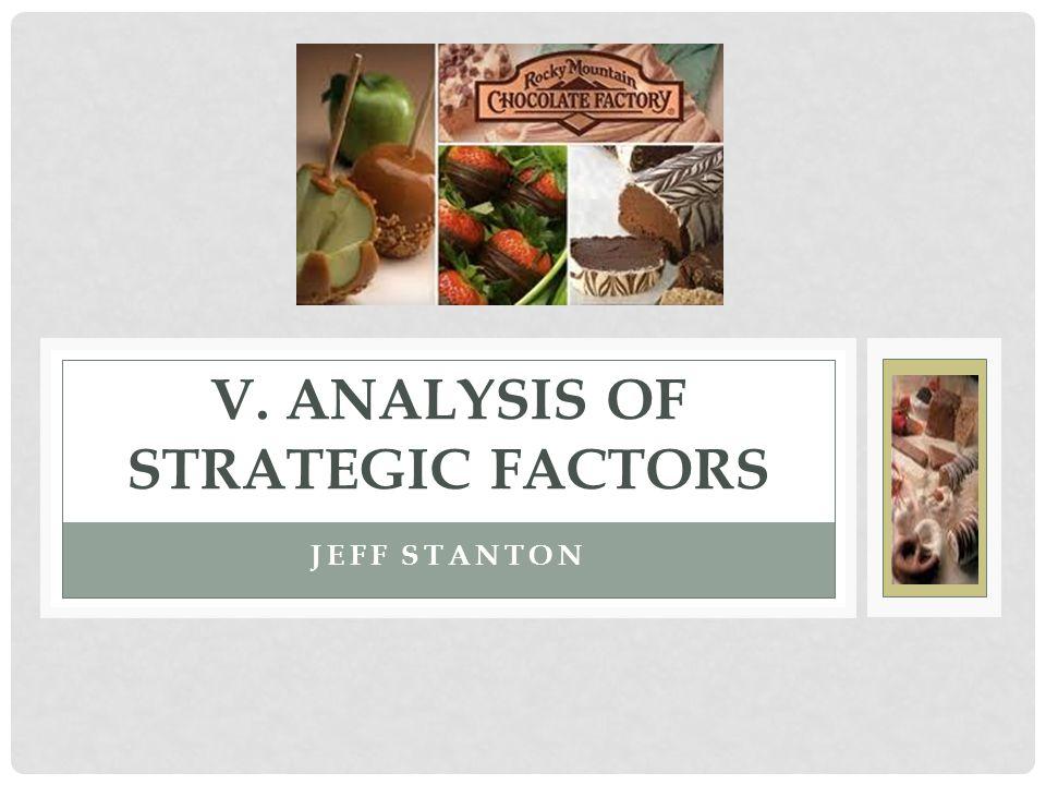 V. ANALYSIS OF STRATEGIC FACTORS