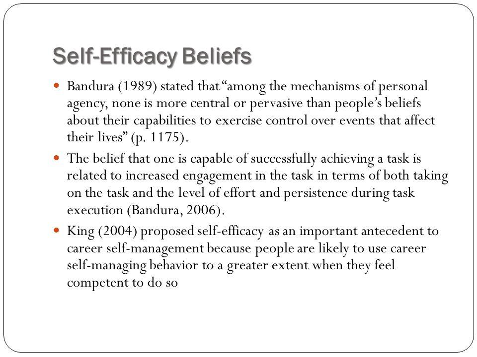 Self-Efficacy Beliefs