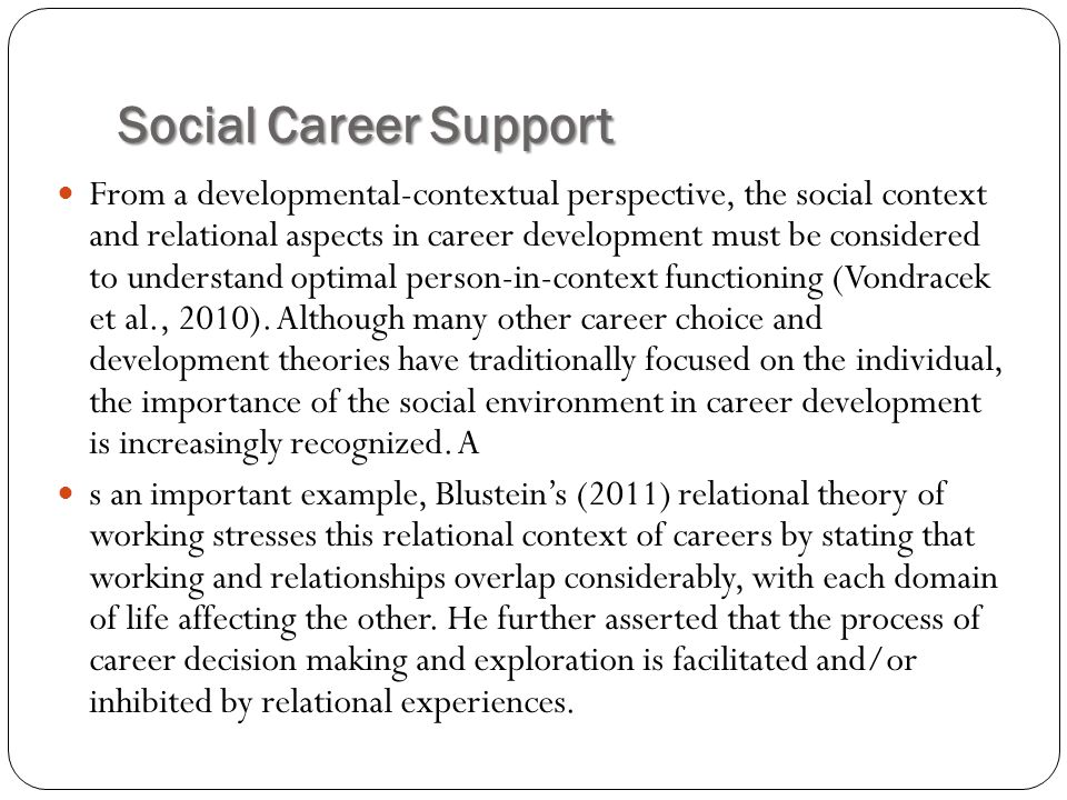 Social Career Support
