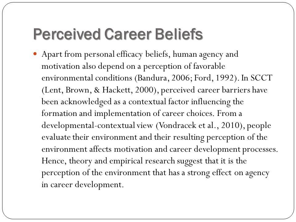 Perceived Career Beliefs