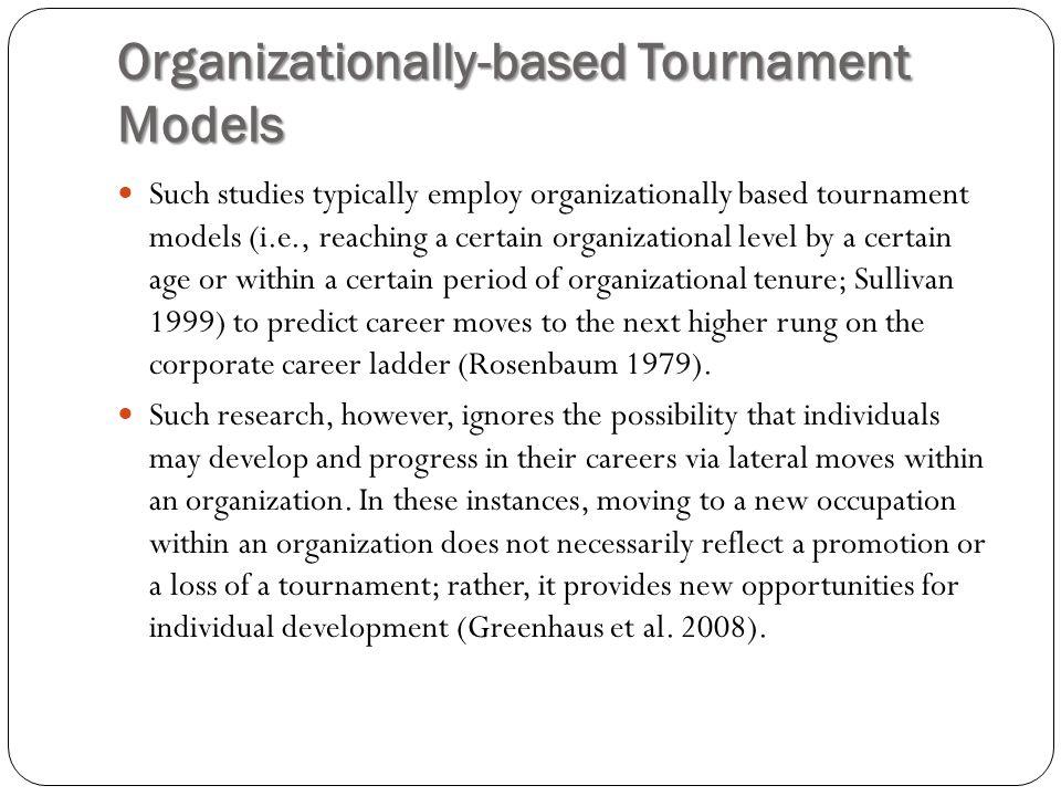 Organizationally-based Tournament Models