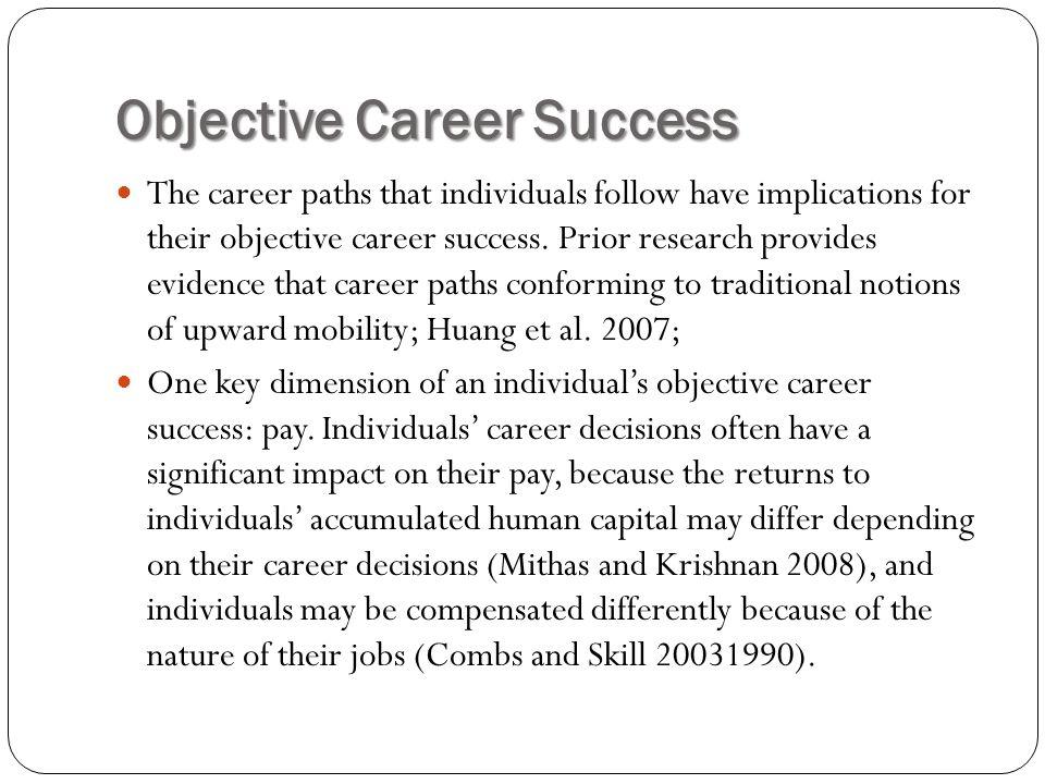 Objective Career Success