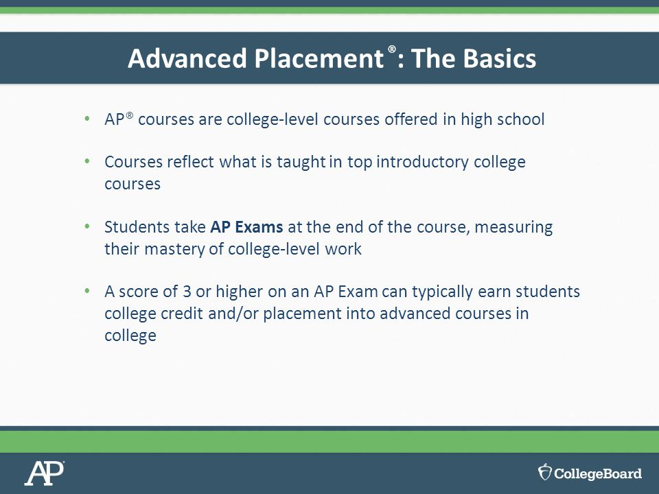 Advanced Placement ®: The Basics