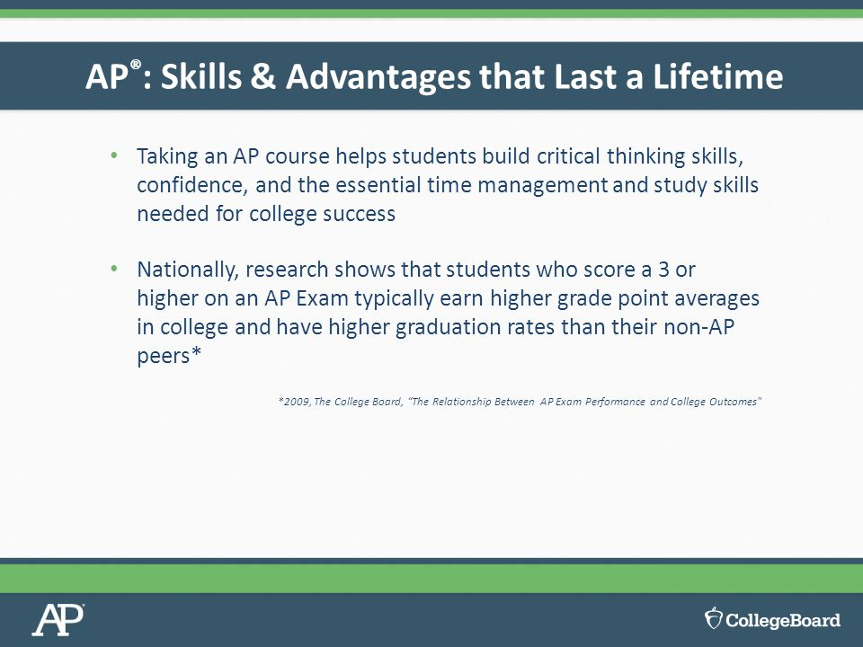 AP®: Skills & Advantages that Last a Lifetime
