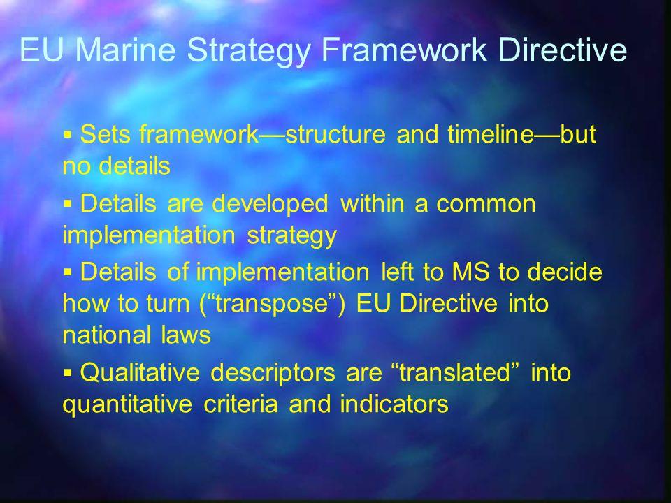 EU Marine Strategy Framework Directive