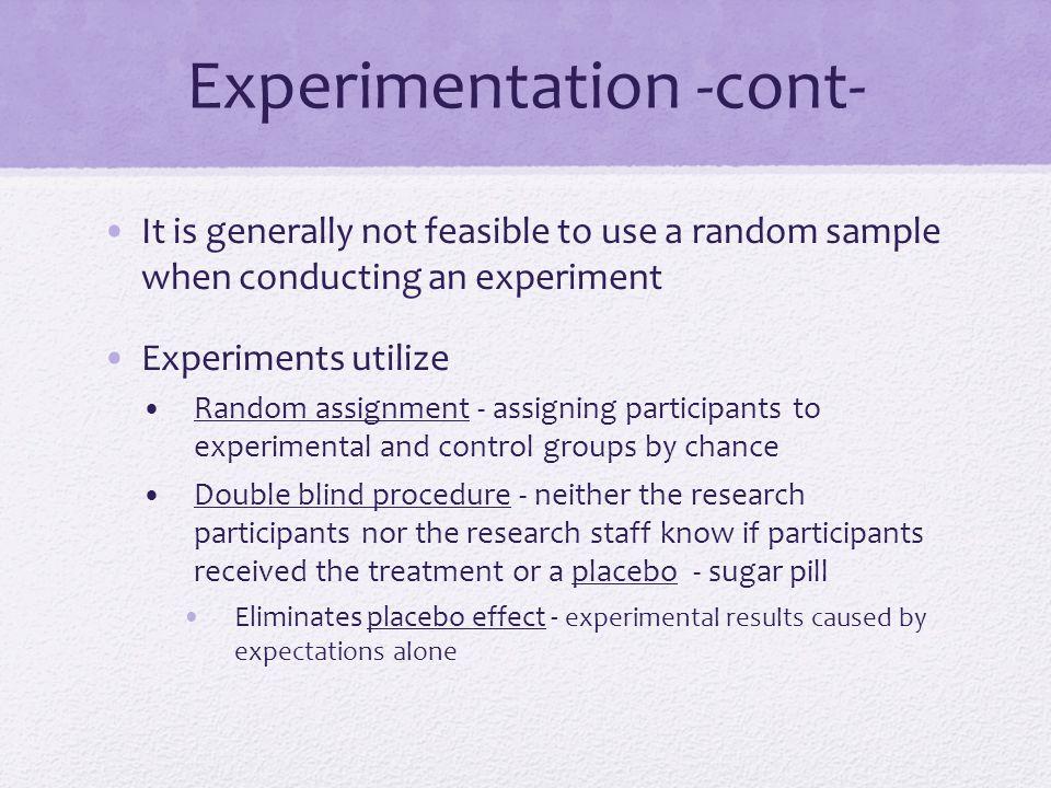 Experimentation -cont-