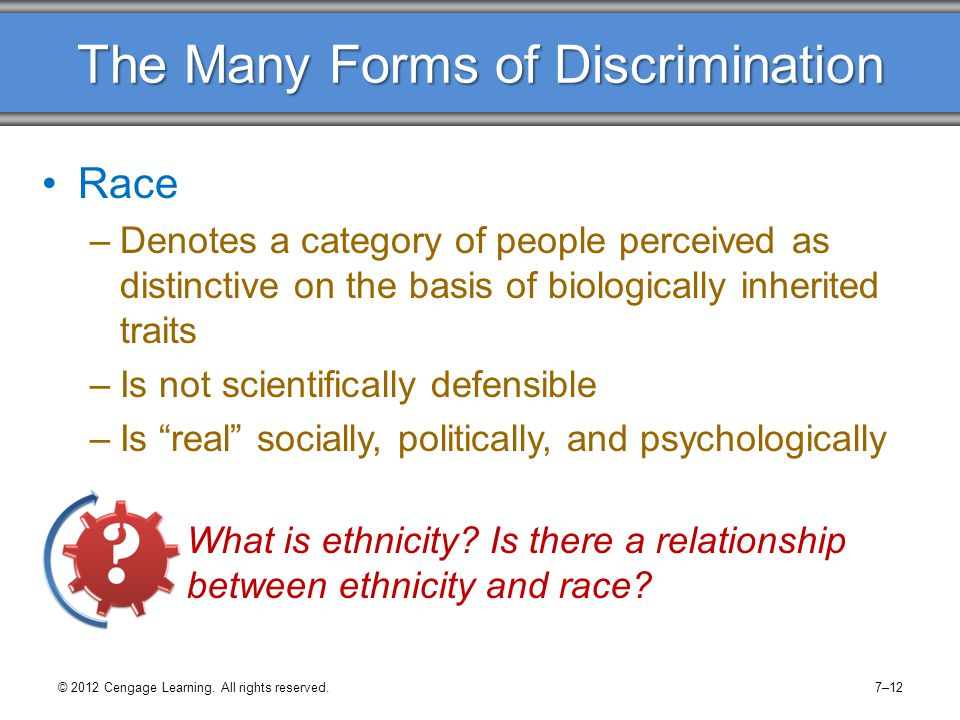The Many Forms of Discrimination