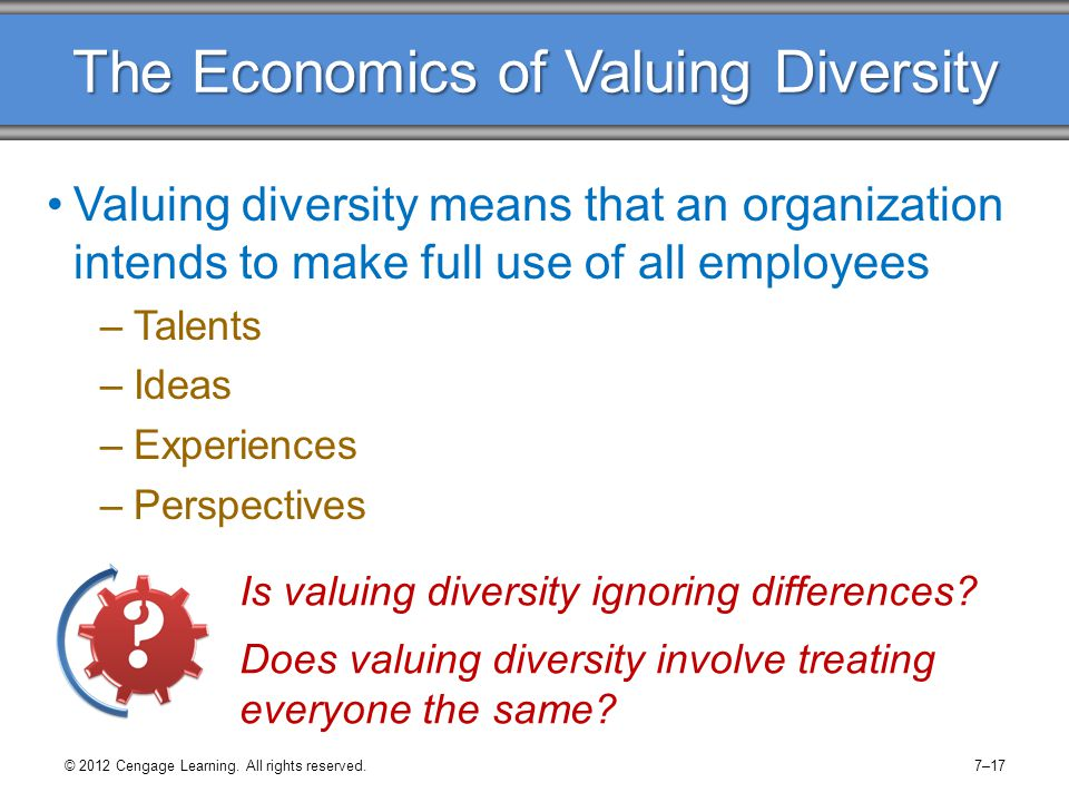 The Economics of Valuing Diversity