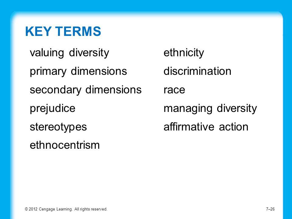 valuing diversity primary dimensions secondary dimensions prejudice