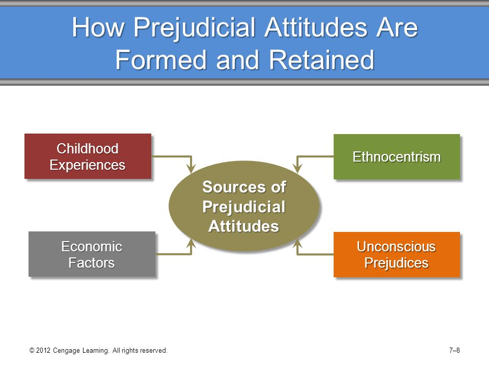 How Prejudicial Attitudes Are Formed and Retained