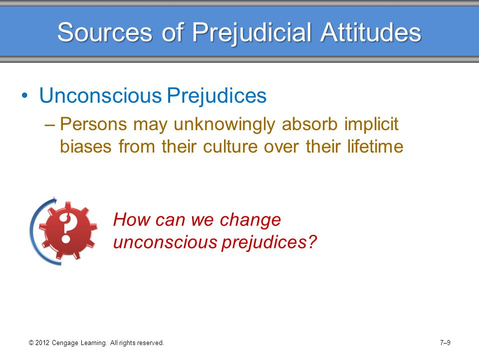 Sources of Prejudicial Attitudes