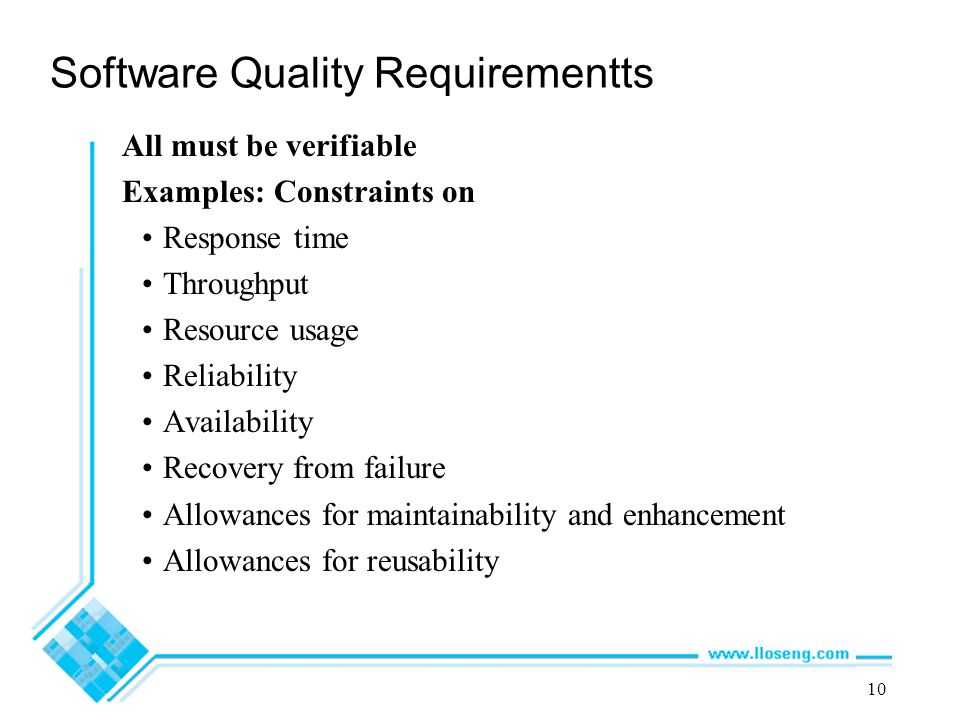 Software Quality Requirementts