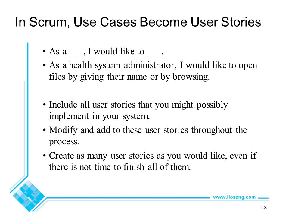 In Scrum, Use Cases Become User Stories