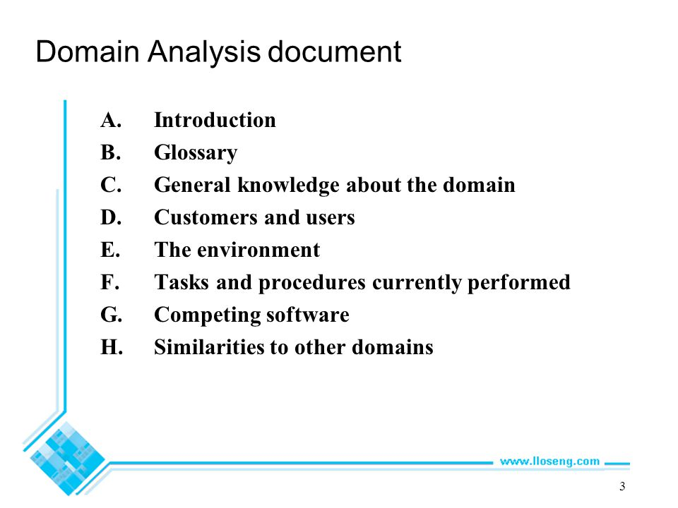 Domain Analysis document