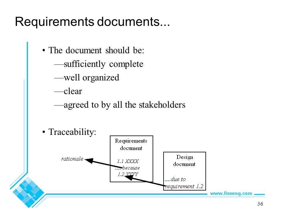 Requirements documents...