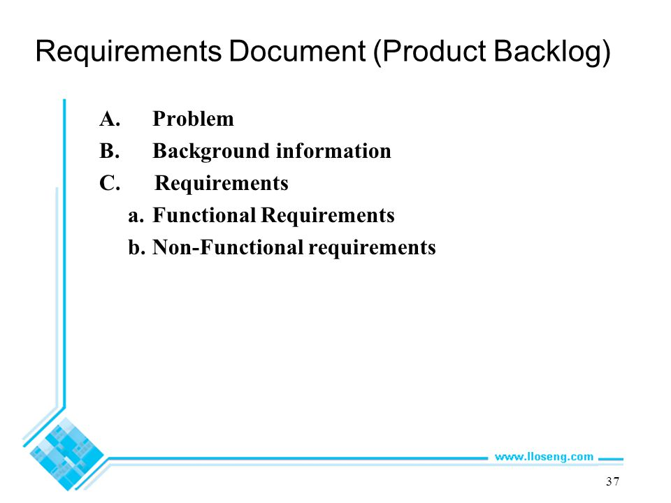 Requirements Document (Product Backlog)