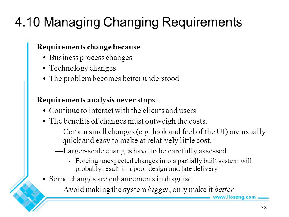 4.10 Managing Changing Requirements