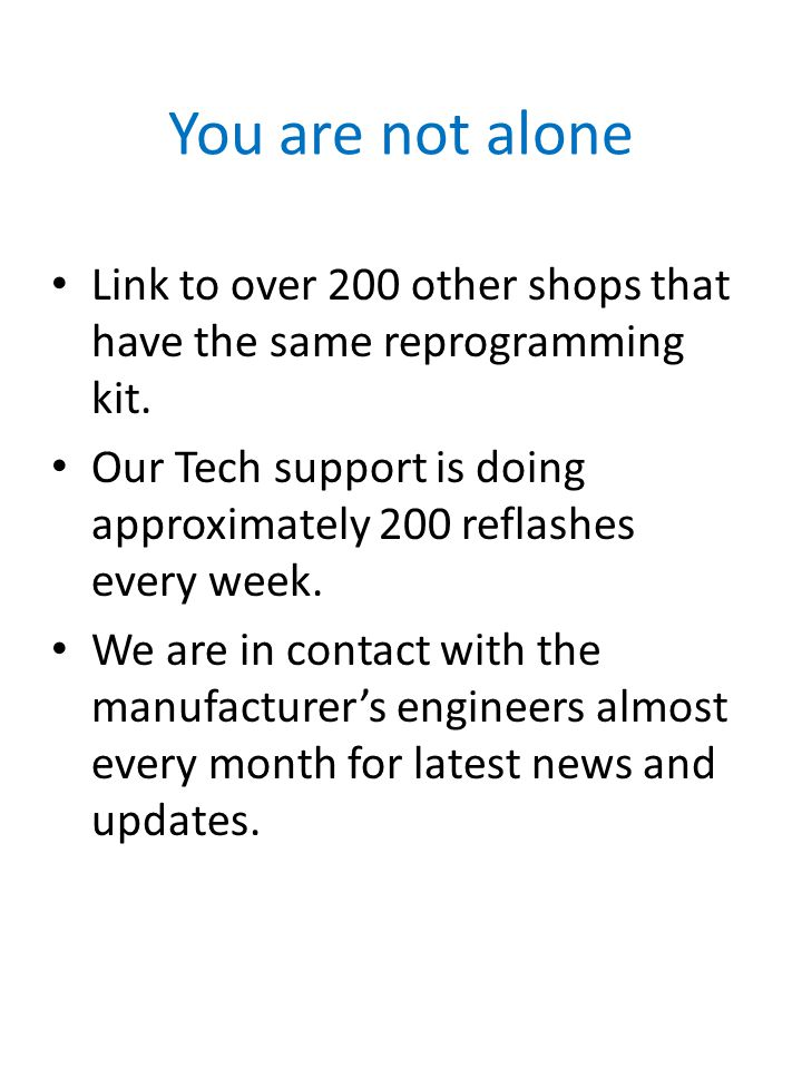 You are not alone Link to over 200 other shops that have the same reprogramming kit.