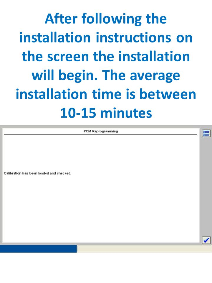 After following the installation instructions on the screen the installation will begin.