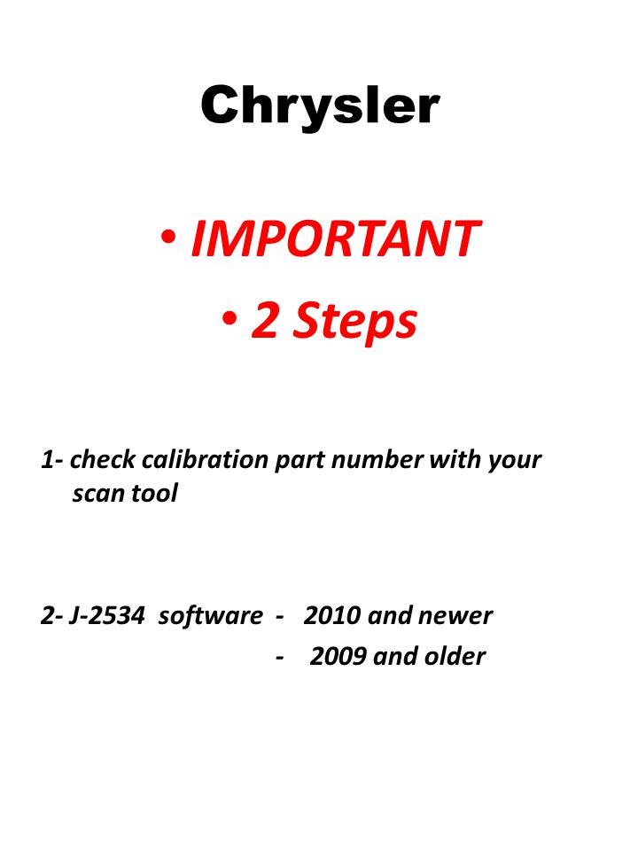 IMPORTANT 2 Steps Chrysler