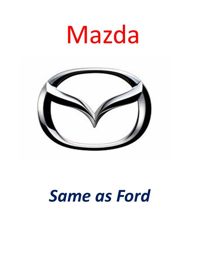 Mazda Same as Ford