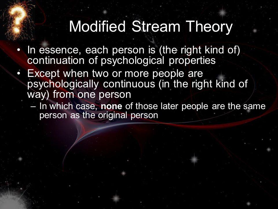 Modified Stream Theory