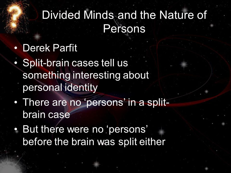 Divided Minds and the Nature of Persons