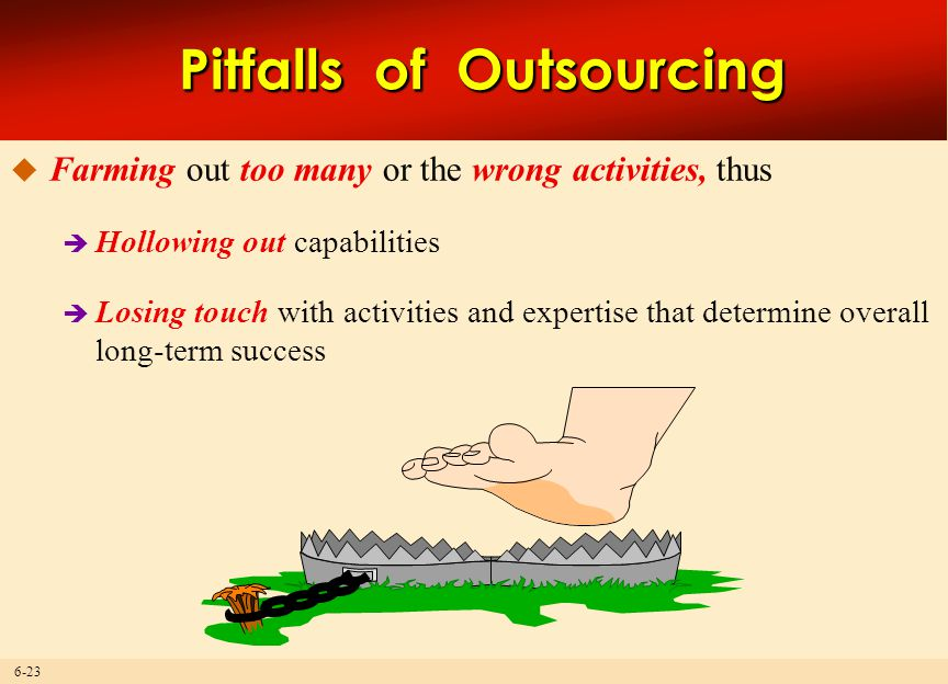 Pitfalls of Outsourcing