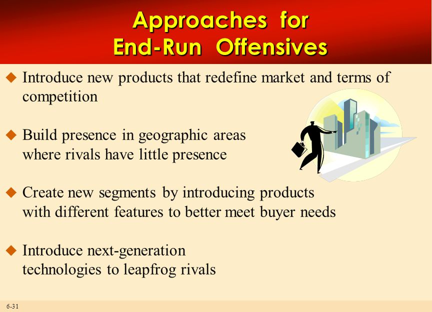 Approaches for End-Run Offensives