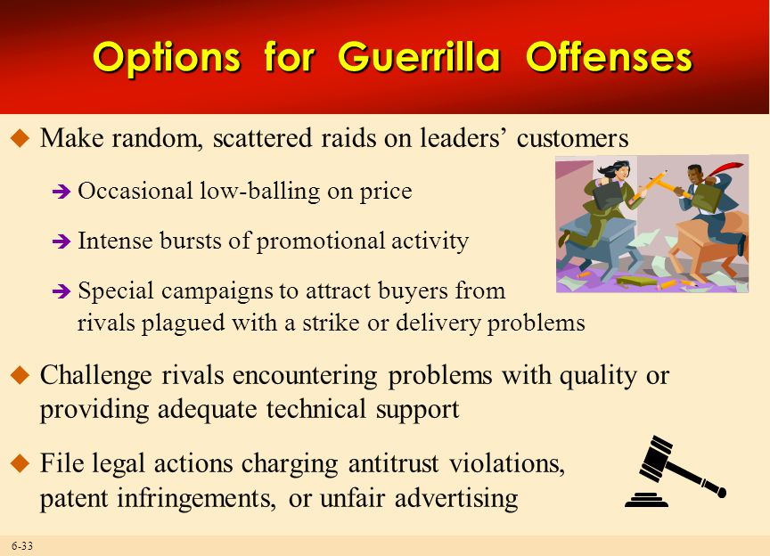 Options for Guerrilla Offenses