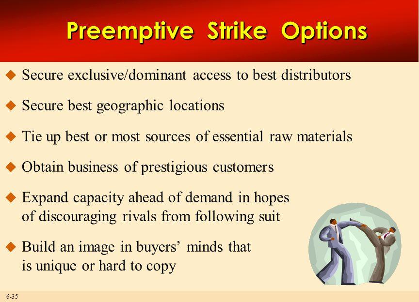 Preemptive Strike Options